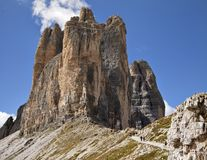 Paysage de montagnes de dolomites Photo libre de droits