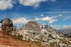 Paysage de montagnes - dolomites - les Alpes italiens Photographie stock libre de droits