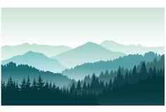 Paysage de montagnes en été Illustration Libre de Droits