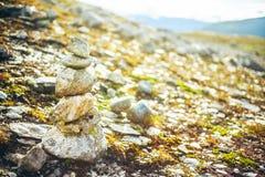Paysage de montagnes en Norvège Voyage en Scandinavie Images stock