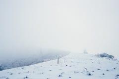 Paysage de moutain de neige pendant l'hiver Images stock