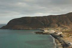 Paysage de nègre de Pozo Fuerteventura Îles Canaries l'espagne Photos libres de droits