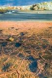 Paysage de Namafjall de vapeur et de soufre, Islande Photographie stock