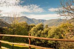 Paysage de nature à l'heure d'or Images libres de droits