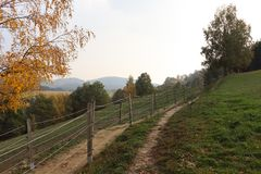 Paysage de nature d'automne en Allemagne photos libres de droits