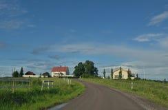Paysage de nature de maison d'été de la Finlande Image libre de droits