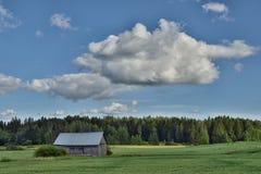 Paysage de nature de maison d'été de la Finlande Photo stock