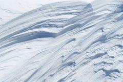 Paysage de neige en parc national de Dartmoor Image stock