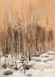 Bois de neige Illustration Libre de Droits
