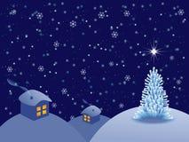 Paysage de Noël Photographie stock
