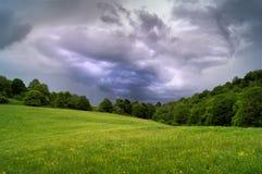 Paysage de nuages de tempête Photos libres de droits