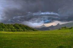 Paysage de nuages de tempête Images libres de droits