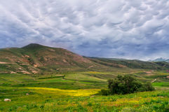 Paysage de nuages de tempête Images stock