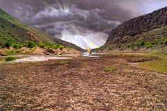Paysage de nuages de tempête Image libre de droits