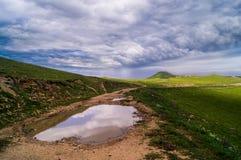 Paysage de nuages de tempête Photo libre de droits