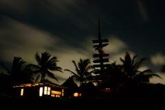 Paysage de nuit dans Tulum Image libre de droits