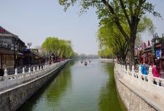 Paysage de Pékin Shichahai, Chine Photo libre de droits