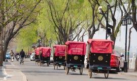 Paysage de Pékin Shichahai, Chine Photographie stock