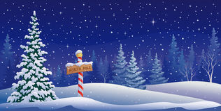 Paysage de Pôle Nord illustration stock