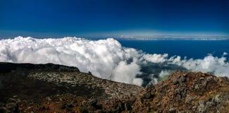 Paysage de panorama du haut de volcan de Pico à la hausse, Açores, Portugal Images stock