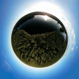 Paysage de panorama de globe Image libre de droits