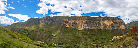 Paysage de panorama près de Chachapoyas, Pérou photo stock
