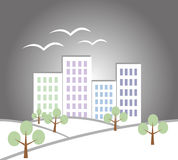 Paysage de papier de ville Image libre de droits