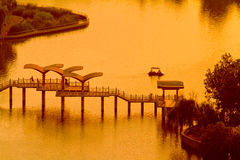 Paysage de parc aquatique de Shijiazhuang photos libres de droits