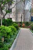 Paysage de parc de bâtiment Photo libre de droits