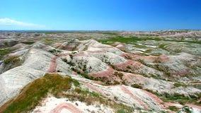 Paysage de parc national de bad-lands banque de vidéos
