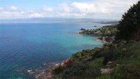 Paysage de parc national de péninsule d'Akamas, Chypre clips vidéos