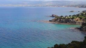 Paysage de parc national de péninsule d'Akamas, Chypre banque de vidéos