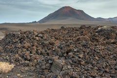 Paysage de parc national de Timanfaya de montagnes volcaniques, Lanzarote, Îles Canaries Photographie stock