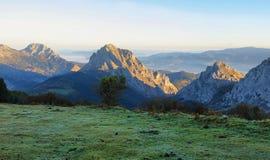 Paysage de parc naturel d'Urkiola en Espagne photos libres de droits
