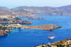 Paysage de Patmos Images stock