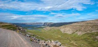 Paysage de Patrekfjordur Photo stock