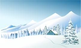 Paysage de pays d'hiver illustration libre de droits