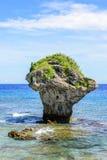 Paysage de peu de Liuqiu, roche de vase en île de Liuqiu image libre de droits