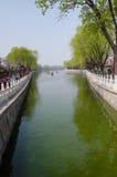Paysage de Pékin Shichahai, Chine Photographie stock libre de droits