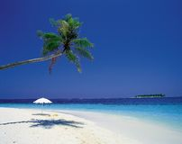 Paysage de plage Photographie stock libre de droits