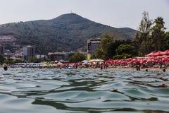 Paysage de plage de Budva Photo libre de droits