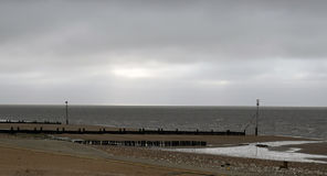 Paysage de plage chez Hunstanton Photographie stock libre de droits