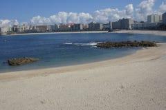 Paysage de plage d'été situé dans Coruña Galicie images stock