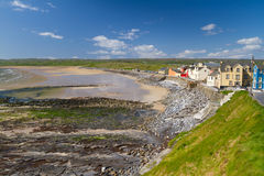 Paysage de plage de Lahinch dans Cie. Clare Photographie stock