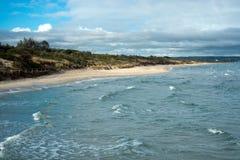 Paysage de plage de Melbourne Photographie stock libre de droits
