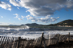 Péninsule de Gien en Côte d'Azur, France Photographie stock libre de droits