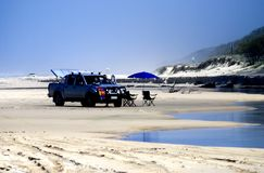 Paysage de plage sur l'île de Fraser Image libre de droits