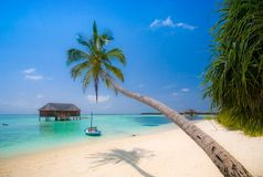 paysage de plage tropical Photos libres de droits