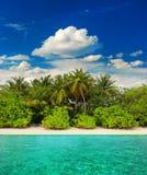 Paysage de plage tropicale d'île Photographie stock libre de droits