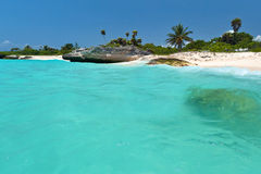 Paysage de Playa del Carmen au Mexique Images libres de droits